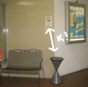 Rauchverbot im gesamten Gebäude - auch hier!