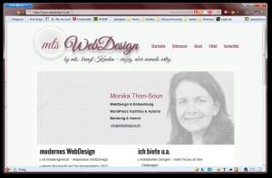 Webdesign-in.de mit JavaScript