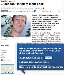 FOCUS und Facebook