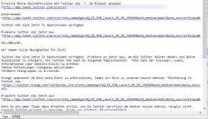 TwitterAds Plaintext