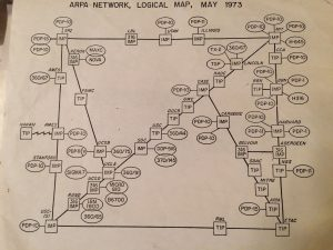 Das Internet 1973. Quelle: Paul Newbury, Carnegie Mellon University