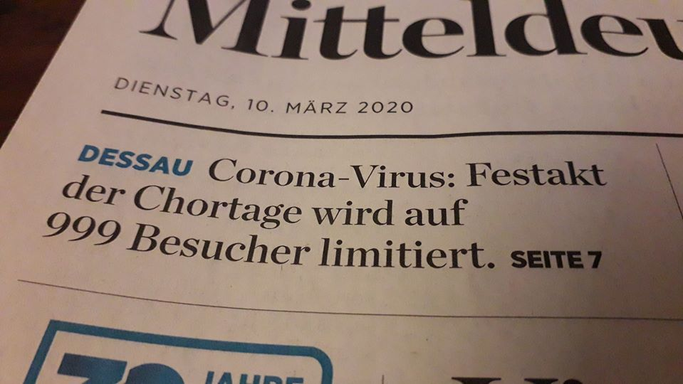 Corona-Virus: Festakt der Chortage wird auf 999 Besucher limitiert.