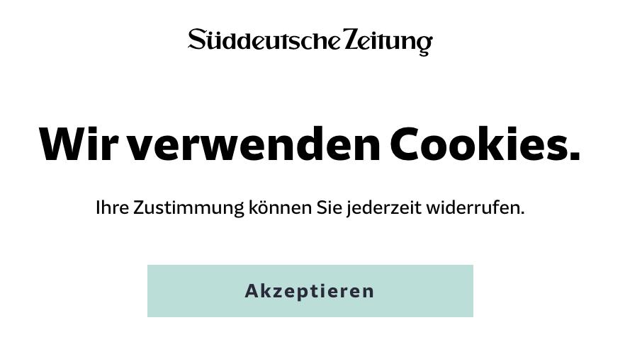 """""""Wir verwenden Cookies"""": """"Akzeptieren""""."""