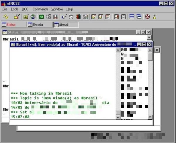 mIRC. Screenshot: George Araujo